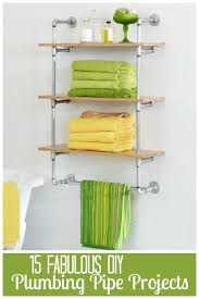diy shelving unit make your own custom shelving unit out of galvanized steel pipes and wooden shelves this do it yourself shelving project will give any
