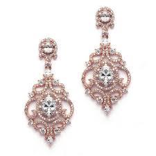 mariell victorian zirconia chandelier earrings