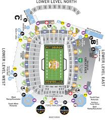 Steeler Game Seating Chart Heinz Field Seating Charts And Stadium Diagrams