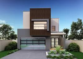 facade for double y floor plan for narrow block