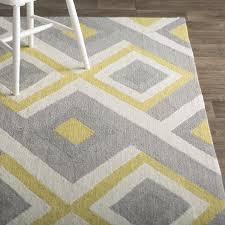 charlton home freeman gray yellow area rug reviews wayfair with and