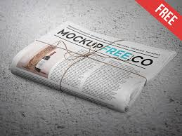Newspaper Newsletter Free Psd Mockup By Mockupfree Dribbble