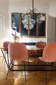 aroussia chamakh et henrik jessen georgia 2 ans pink velvet chairvelvet dining