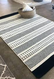 black and white wool rug from tonic living felted