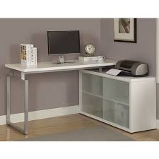 white l shaped desk with frosted glass free today inside computer decorations 17