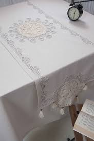 natural linen table runner with