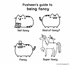Pusheen Guide Fancy Kind Of Fancy Super Coloring Pages Printable