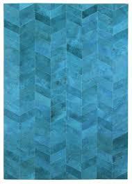 herringbone blue modern leather area rug jpg