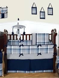 baby boy cribs rustic country grey navy plaid print baby boy crib bedding set baby boy
