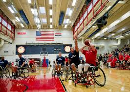 u s department of defense photo essay marine corps lance cpl joshua wege shoots a basketball at the olympic training center during