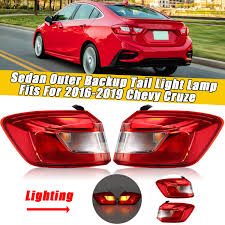 2012 Chevy Cruze Third Brake Light Replacement Us 56 85 36 Off Rear Left Right Outer Backup Tail Light Lamp With Bulbs Fits For Chevy For Cruze Sedan 2016 2017 2018 2019 84078120 84078119 In Car