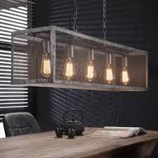 Industriële Hanglamp Matt 5 Lamps Meubelpartner