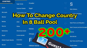 How To Change Country In 8 Ball Pool Games Hackney