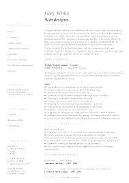 Creative Web Designer Resume Template Design Information