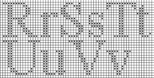 Alphabet Knitting Chart Free Alphabet Point De Croix Cross Stitch Blog