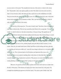 Poem Explication Essay Poetry Explication Paper The Social Life Of Water By Tony