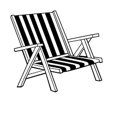Beach Lounge Chair Drawing ClipartXtras