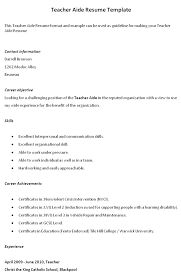 Letter Of Interest For Teachers Aide Position Resume And Cover