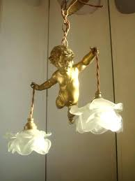wonderful antique cherub chandelier best angels cherubs images on angels archangel superb vintage french cherub chandelier