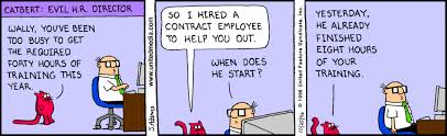 Training Outsourcing - Hr com Funnysalescartoons Taking Dilbert