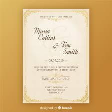 Wedding Invitation Downloads Wedding Invitation Card Template Vector Free Download