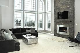 view in gallery modern gas fireplace with stacked stone