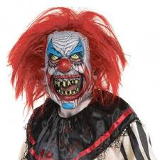 Costumes USA Slasher Clown Full Mask Adult Mens Halloween Costume Accessory