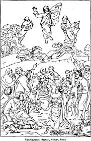 Coloring Pages The Transfiguration Catholic Coloring Page