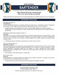Bartender Resume Examples New Bartender Resume Examples Mixologist