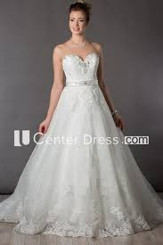 Sweetheart <b>A-Line Tulle</b> Bridal Gown With Lace And <b>Crystals</b> ...
