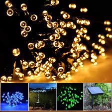 100 White Outdoor Led Solar Fairy Lights Lycheerscolour Solar Christmas String 17m 100 Led Solar Fairy String Lights For Outdoor Gardens Homes Christmas Party Waterproof 17m 100led Warm