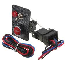 <b>12V</b> Racing Car <b>Ignition Switch</b> Kit Carbon <b>Panel</b> Toggle Engine ...