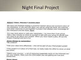 Night By Elie Wiesel Character Chart Night Elie Wiesel Ppt Download
