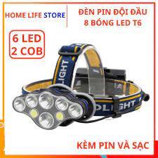 Đèn Pin, Đèn Đội Đầu 8 Bóng Led Siêu Sáng - Đèn pin Thương hiệu OEM