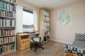 home office bookshelves. Modern Interior Design Small Home Office Bookshelves Light Beige Wall Color