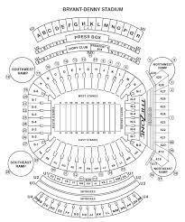 Seating Chart Bryant Denny Stadium Crimson Tide Football