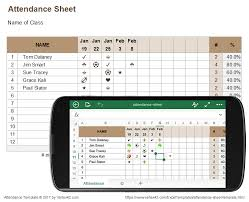 attendance spreadsheet excel attendance sheet for excel mobile and online