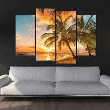 beach sunset wall art