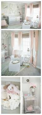 Pink and gray shabby chic nursery - love the soft and sweet details of this  baby room! Dream nursery for when I have a baby.