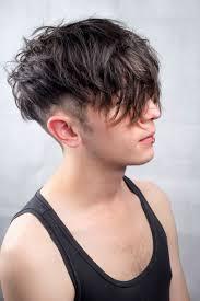 Messy Undercut Mens Hair Textured Natural Black Long