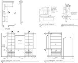 furniture design drawings. shop drawings for study bookcases. furniture design e