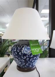 ralph lauren blue white asian style lamps