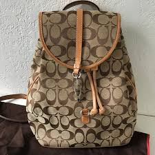 Coach Classic Signature Fabric C Logo Backpack