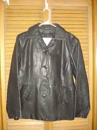 women s leather coat wilson leather maxima size s excellent cond dull black from wilsons leather