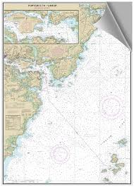 Tide Chart Portsmouth Nh Peel And Stick Nautical Chart Of Portsmouth Nh