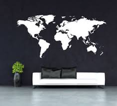 image is loading huge world map wall art quote wall stickers  on map wall art uk with huge world map wall art quote wall stickers home decals uk rui264 ebay