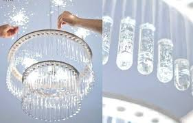 diy crystal chandelier mobile
