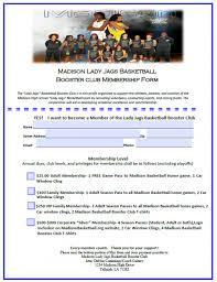 Madison High School Booster Club Membership Form