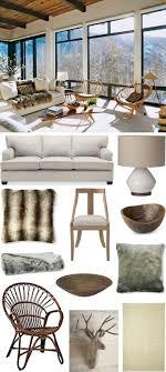 ski chalet furniture. chic coastal living get the look aerin lauderu0027s cozy aspen ski chalet williams furniture e