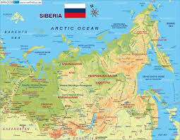 map of siberia (russia)  map in the atlas of the world  world atlas